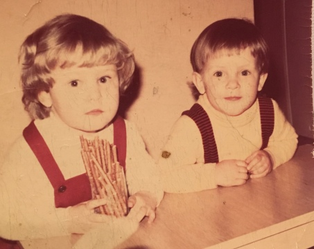 Ewa and I (age around 3 and 4)