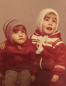 I and Ewa (age around 4 and 5)