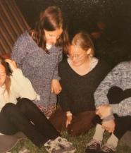 Marta, I and Ewa, pielgrzymka in 2001 (I think...)
