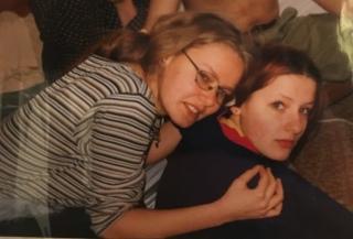 Ewa & I during ski trip to Slovakia in 1999 (I believe)